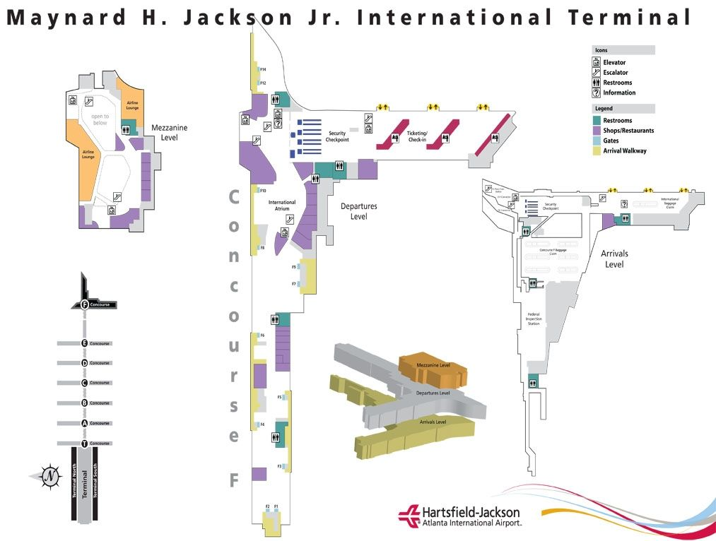 Atlanta Ga Airport Map Atlanta Hartsfield Airport Map My Blog 1013