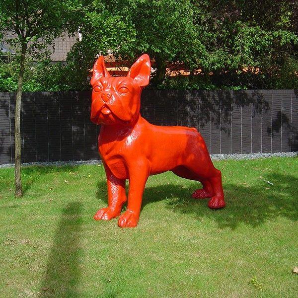 statue bulldog fran ais xxl accessoires objets d co statue animaux et bouledogue fran ais. Black Bedroom Furniture Sets. Home Design Ideas