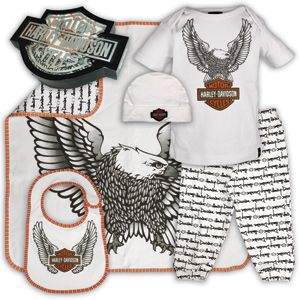 Harley Davidson Baby Clothes Harley Davidson Motor Clothes Gifts Accessories And Gear For Baby Harley Baby Harley Baby Clothes Harley Davidson Baby