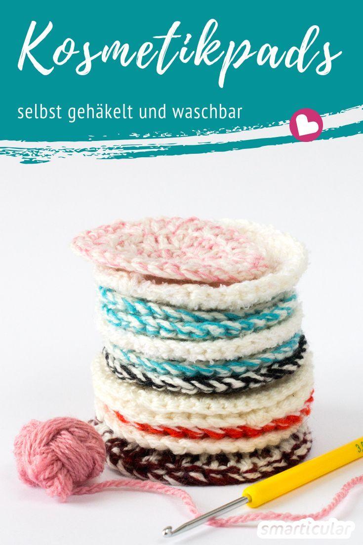 Adieu Wattepads: Kosmetikpads (90 °C waschbar) einfach selber häkeln!