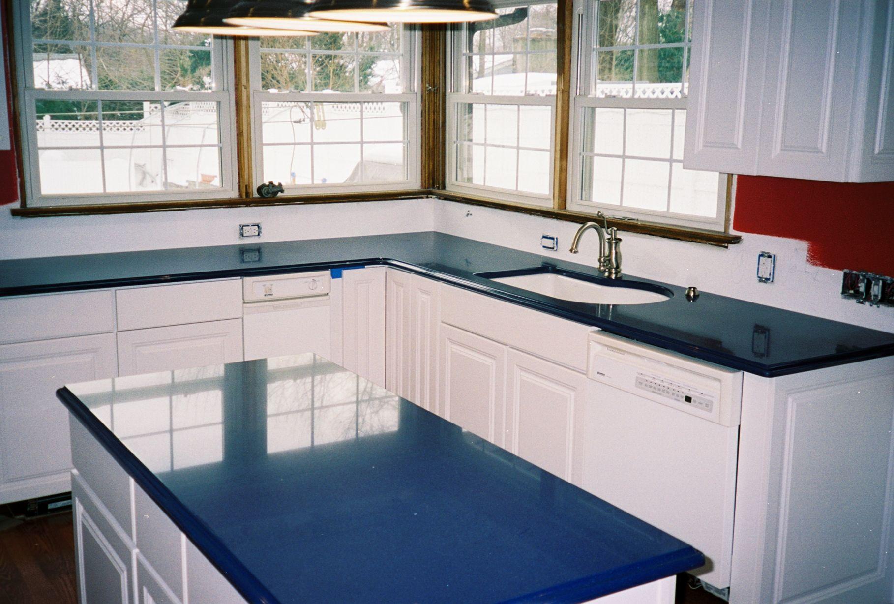 Cobalt Blue Kitchen Countertops Blue Countertops Blue Kitchen