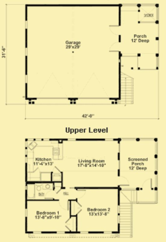 Garage Apt garage Pinterest Garage plans, Breezeway and Garage - Apartment House Plans