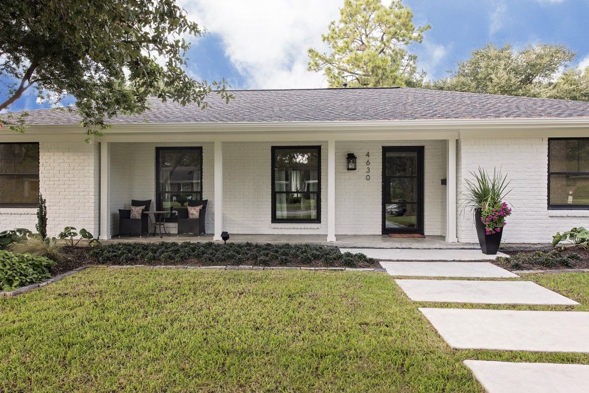 Image result for ranch house black windows