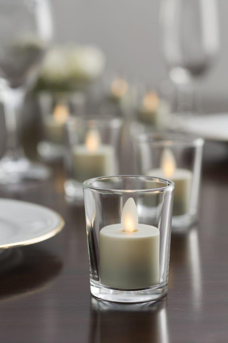 Flameless LED candlewedding candles unique wedding centerpiece holiday decordiwali decorholiday centerpiecepersonalizedcustom candle