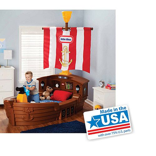 Purchase the Little Tikes Pirate Ship Toddler Bed at an always low price  from Walmart.