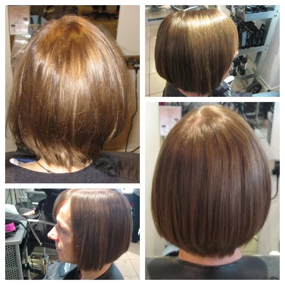 A sleek bob suitable for fine, straight hair. This will add body to the hair and it's low maintenance.