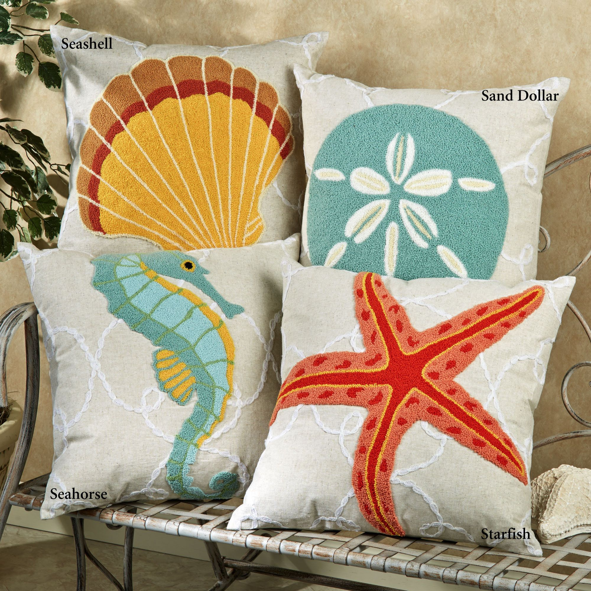 Washed Ashore Beach Themed Decorative Pillows Beach House Decor