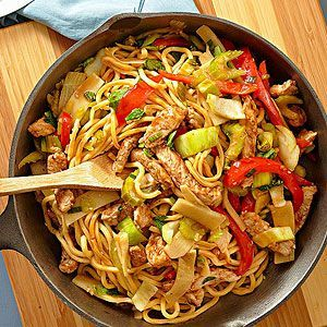 Pork Lo Mein From Better Homes and Gardens, ideas and improvement projects for your home and garden plus recipes and entertaining ideas.From Better Homes and Gardens, ideas and improvement projects for your home and garden plus recipes and entertaining ideas.