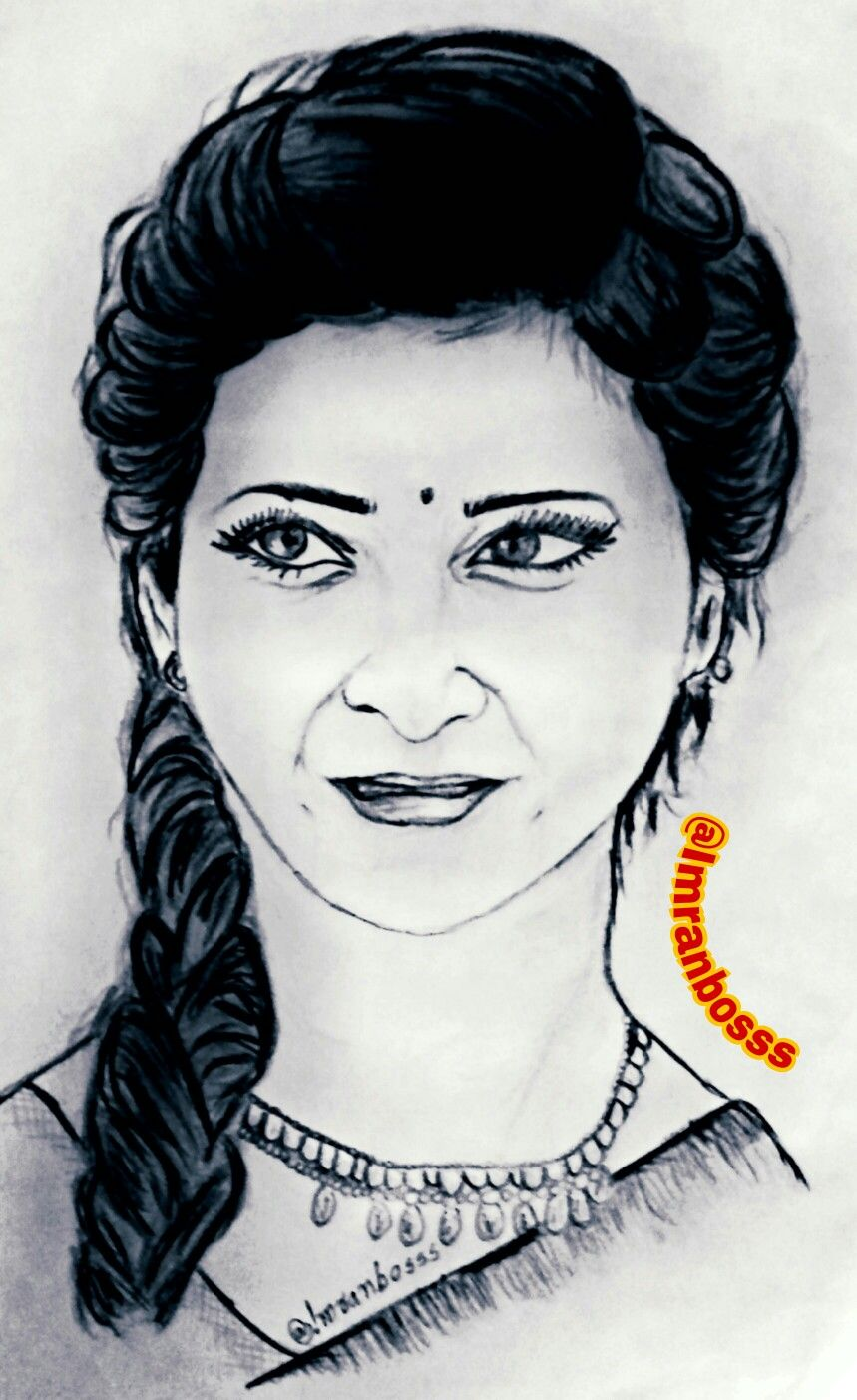Tamil Actress Drawing Photos