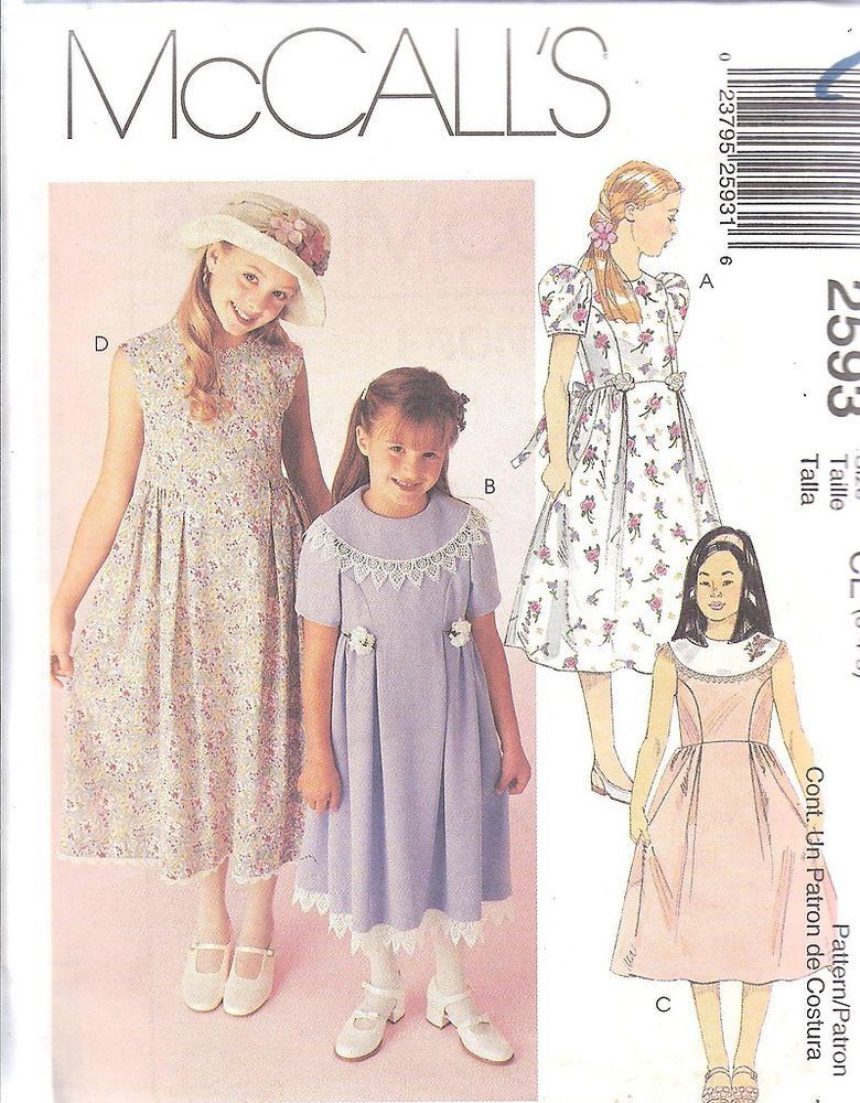 Booties and Doll Sizes 6 and 7  Sewing Pattern McCall/'s 5698 Girls/' Sleepwear