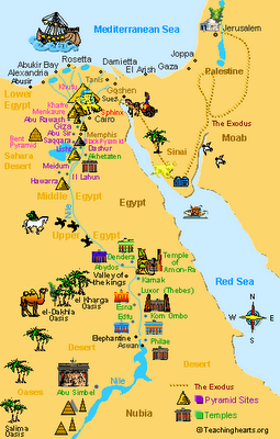 Ancient Egypt Map For 6Th Grade Ancient Egypt Maps for Kids and Students ~ Ancient Egypt Facts