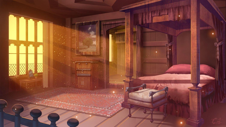 Mansion Bedroom Anime Backgrounds Wallpapers Mansion Bedroom Fantasy Rooms