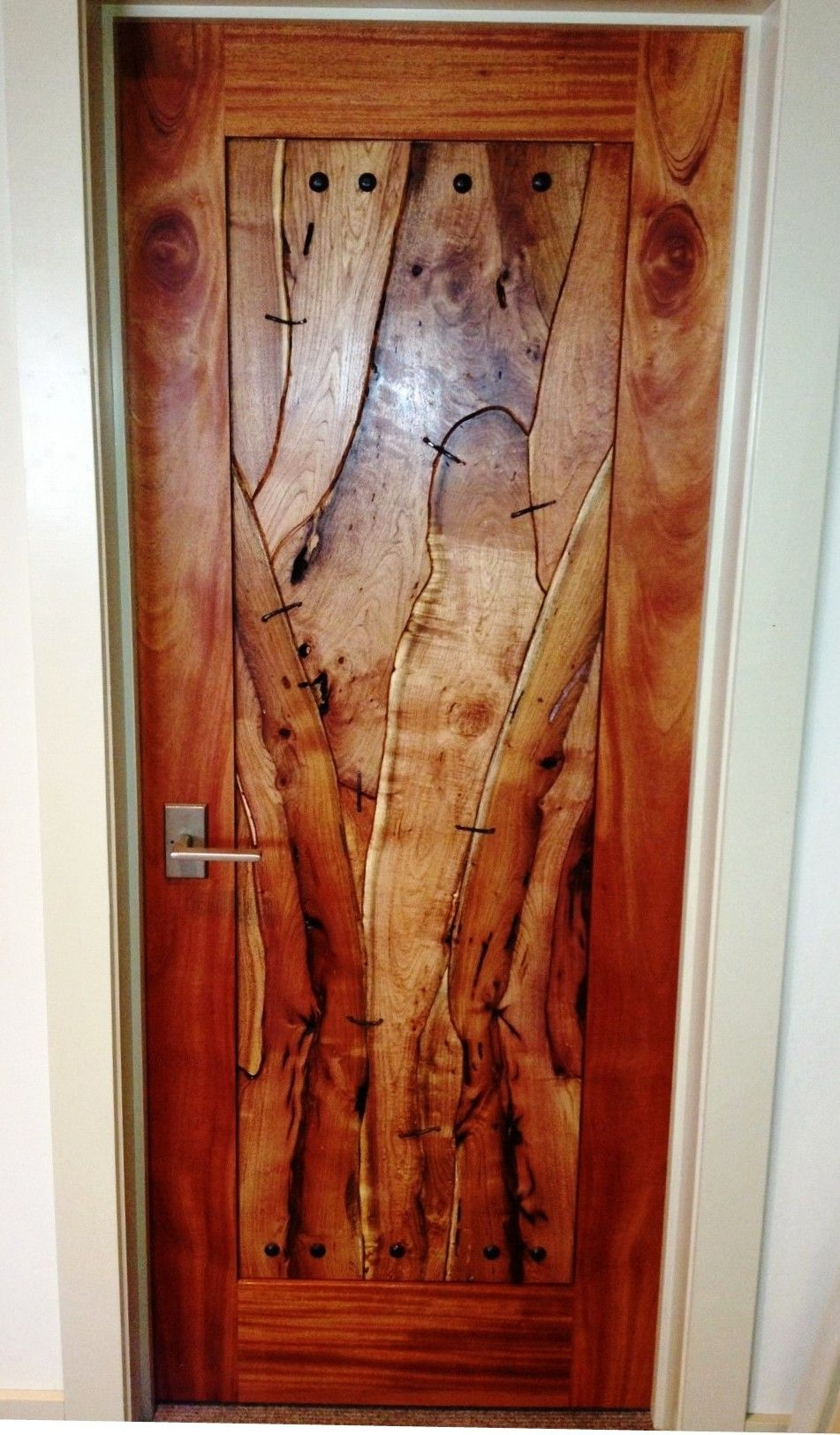 Francois Illas New Tradition: Rustic Door. Made From Mahogany & Mesquite