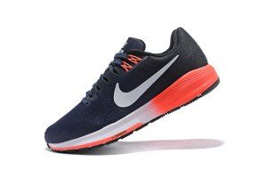 09abb91e1d0f Mens Nike Air Zoom Structure 21 Purple Navy Blue Orange White 904701 466  Running Shoes