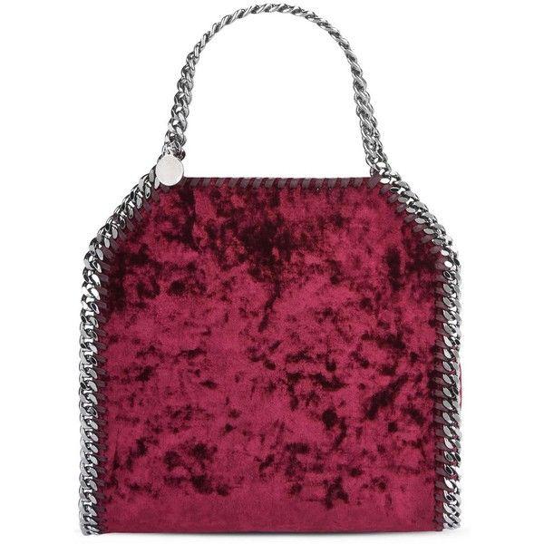 0f7dad1c9d9 Stella Mccartney Red Velvet Falabella Mini Tote (1