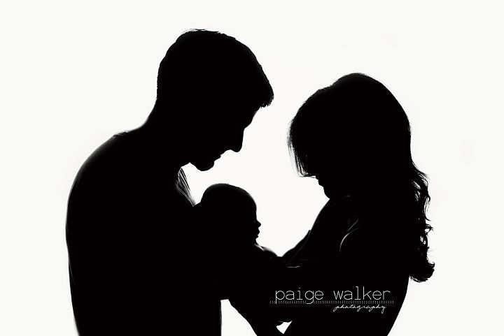 Black And White Silhouette With Parents Baby Silhouette Newborn Photography Boy Newborn Photography Poses