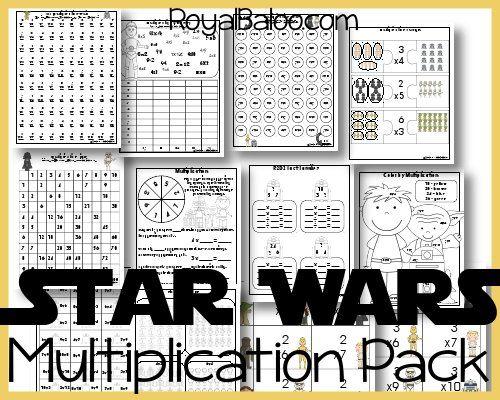 Free Star Wars Printable Packs Multiplication Homeschool Math Star Wars Classroom