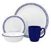 Corelle Breathtaking Blue Beads 16pc Dinner Set