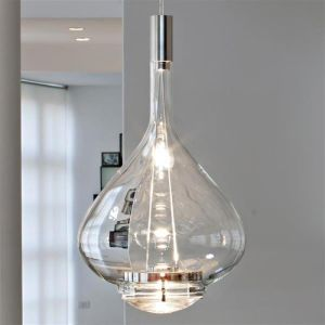 Studio Italia Design Skyfall S01 Modern Clear Glass Teardrop Pendant Pendant Lighting Island Pendant Lights Italia Design