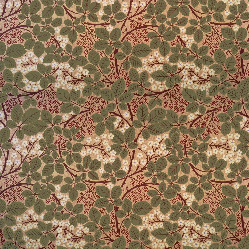 Victorian Floral Wallpapers Bradbury Raspberry Bramble