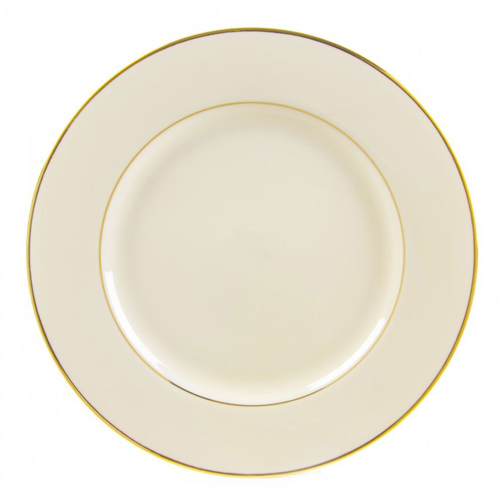 10 Strawberry Street Cgld0024 12 1 4 Cream Double Gold Line Porcelain Charger Plate 12 Case Gold Charger Plate Setting Gold Charger Plate Plates