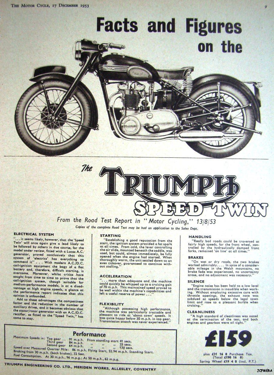 Vintage Triumph UK motorcycle ad reproduction steel sign man cave decor