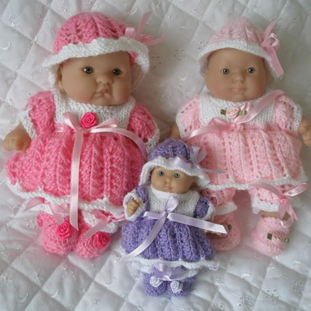Vintage Doll Pattern Knitting Knitted Stuffed Doll Toy Miranda