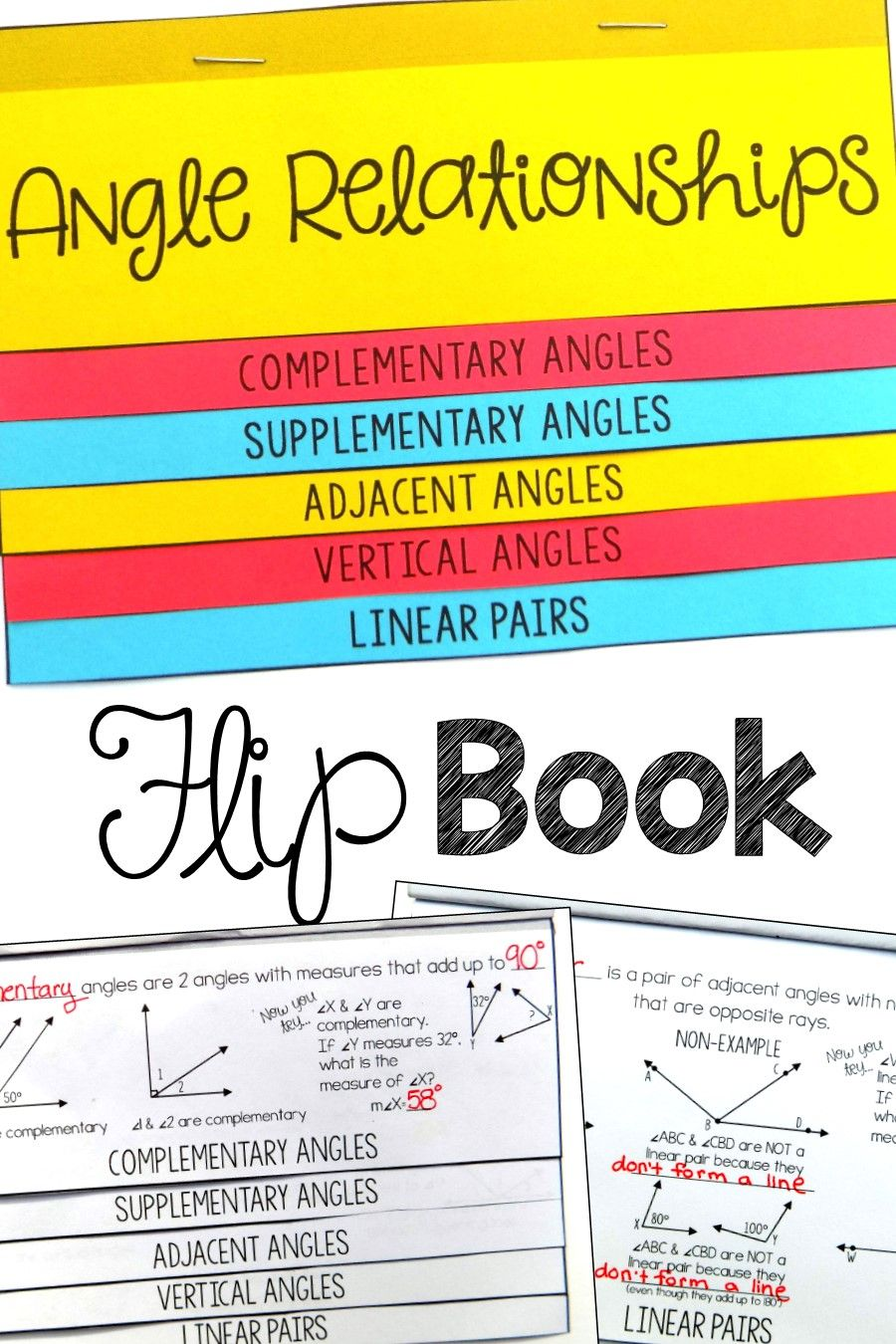 This angle relationships foldable flip book was the perfect activity to  teach my 7th g…   Angle relationships [ 1350 x 900 Pixel ]