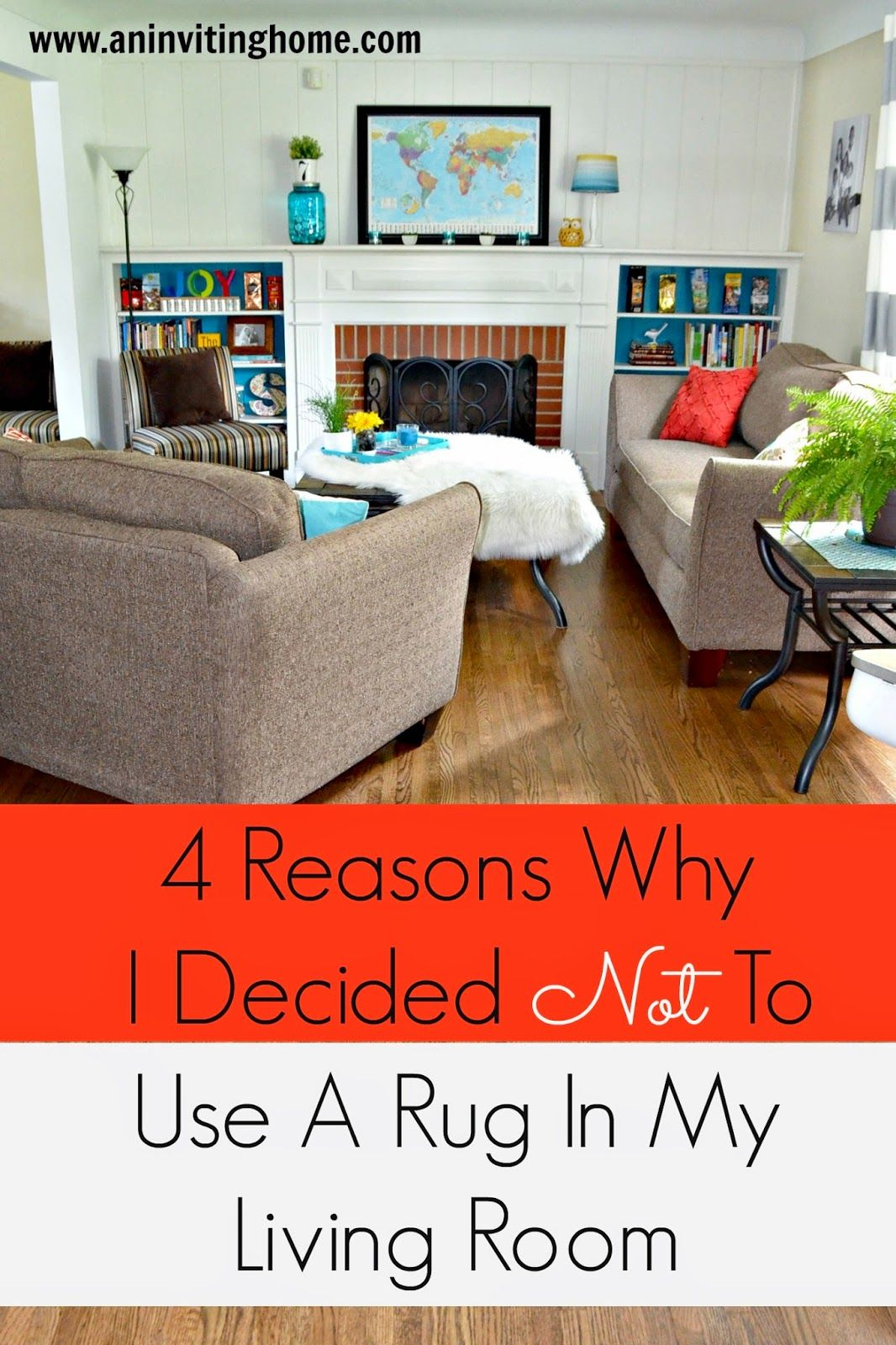 4 reasons why i decided not to use a rug in my living room Pinner says: I love this! Remembering what is important is more important ;)