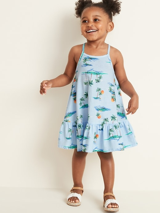 9d6e627de9 Old Navy Toddler Girls' Sleeveless Tiered Swing Dress Scenic Print Regular  Size 12-18