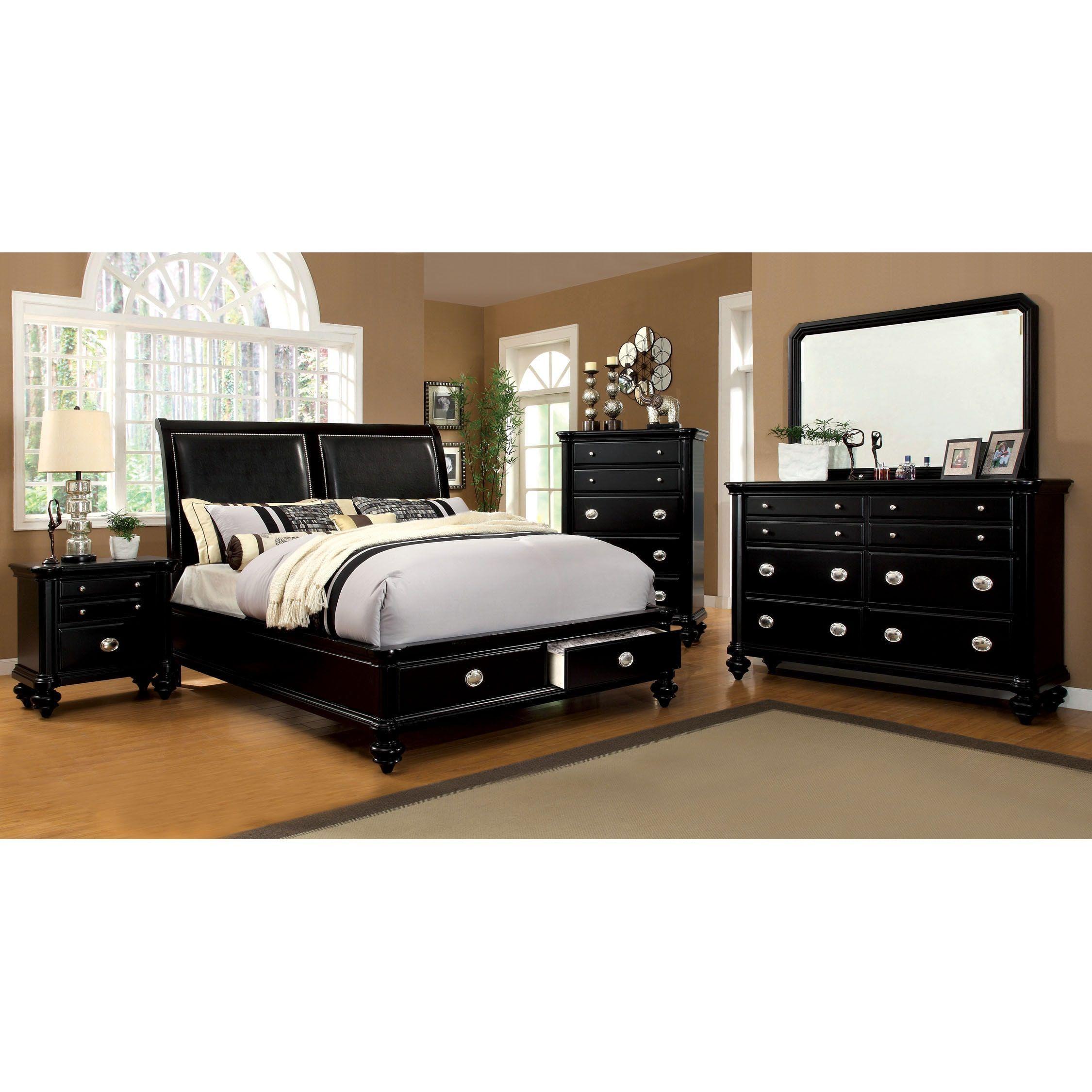 Furniture of America Modern 4-piece Platform Bedroom Set ...