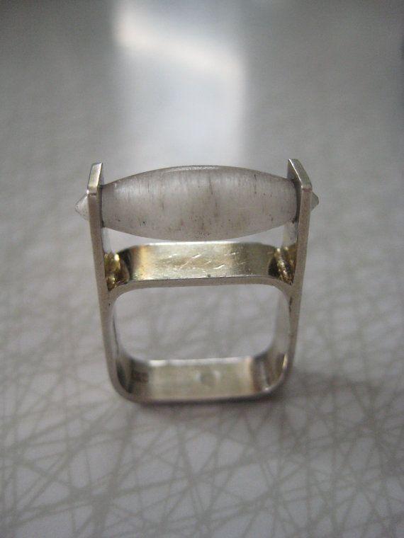 Square Sterling Silver Modernist Ring