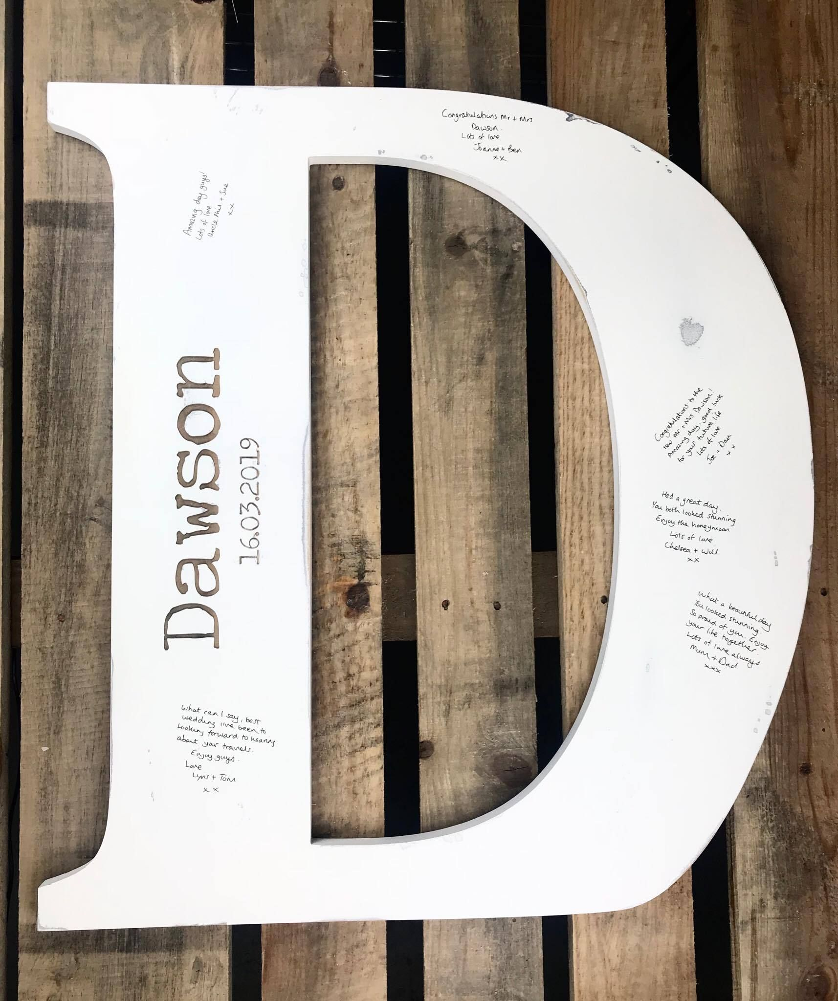 Wedding Guest Book Wooden Initial Letter Wedding In 2019 Wooden