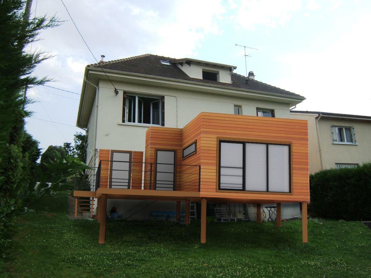 Agrandissement et Terrasse en Bois en Ile de France   Haus ...