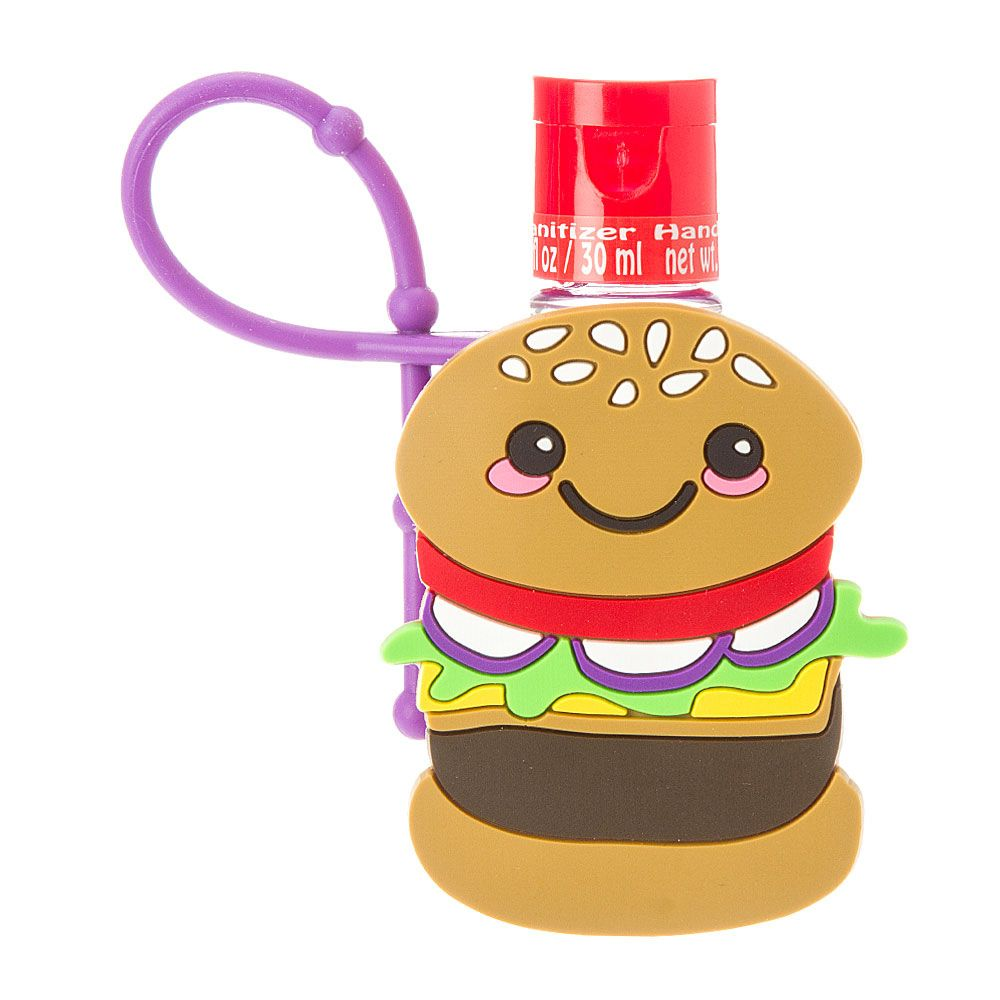 Hamburger Holder With Anti Bacterial Hand Sanitizer Hand