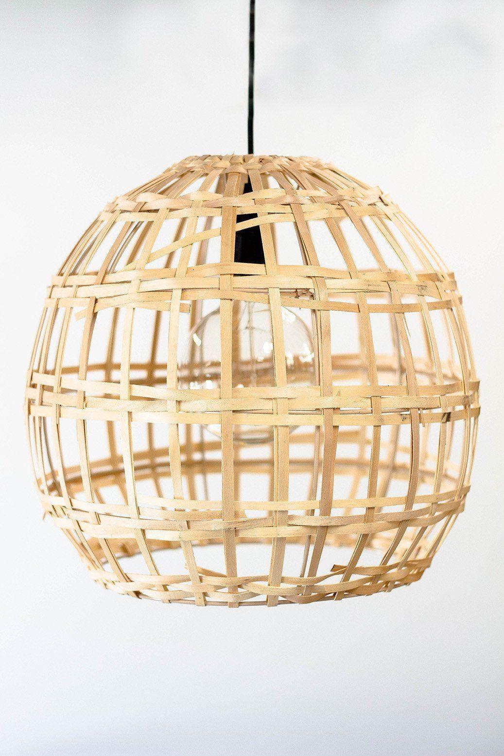 Split wood basket pendant light wood basket pendant lighting and