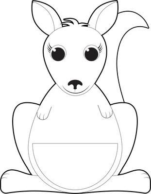 Kangaroo and Joey Kangaroo Clip Art Set from Dancing Crayon Designs ...