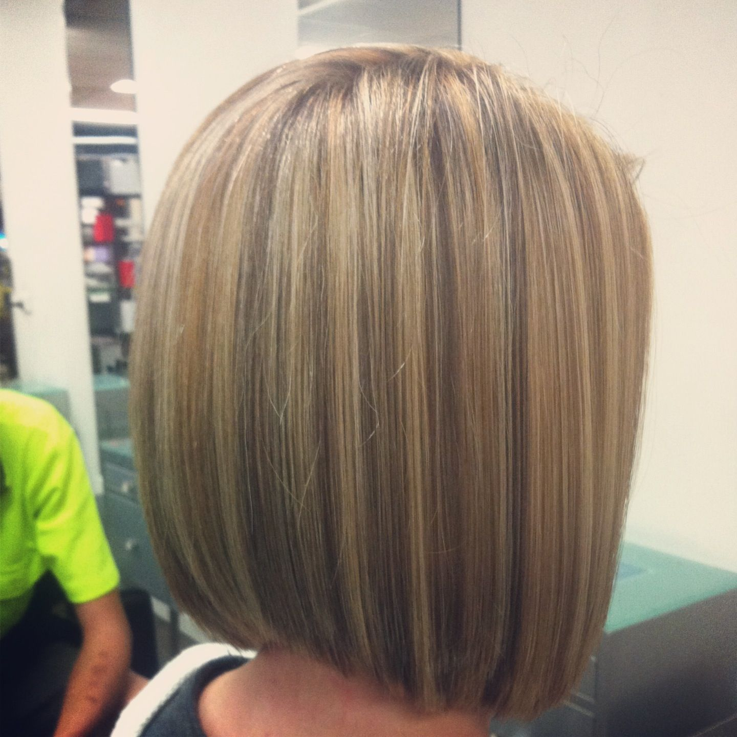 Blonde Restyle Concave Bob Concave Hairstyle Concave Bob Long Concave Bob