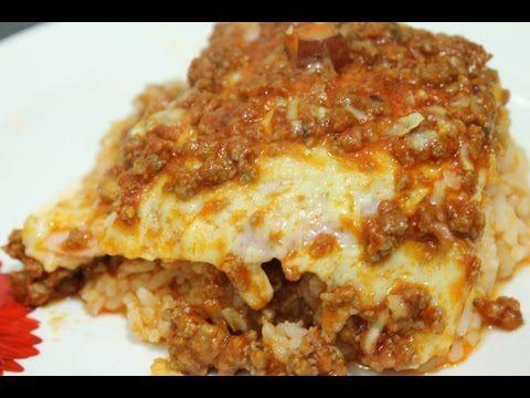 Youtube Almocos Arroz De Forno Parmegiana De Carne Moida E