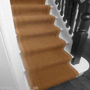 Aztec Beige   Stair Carpet Runner For Narrow Staircase Cheap Modern Hard  Wearing