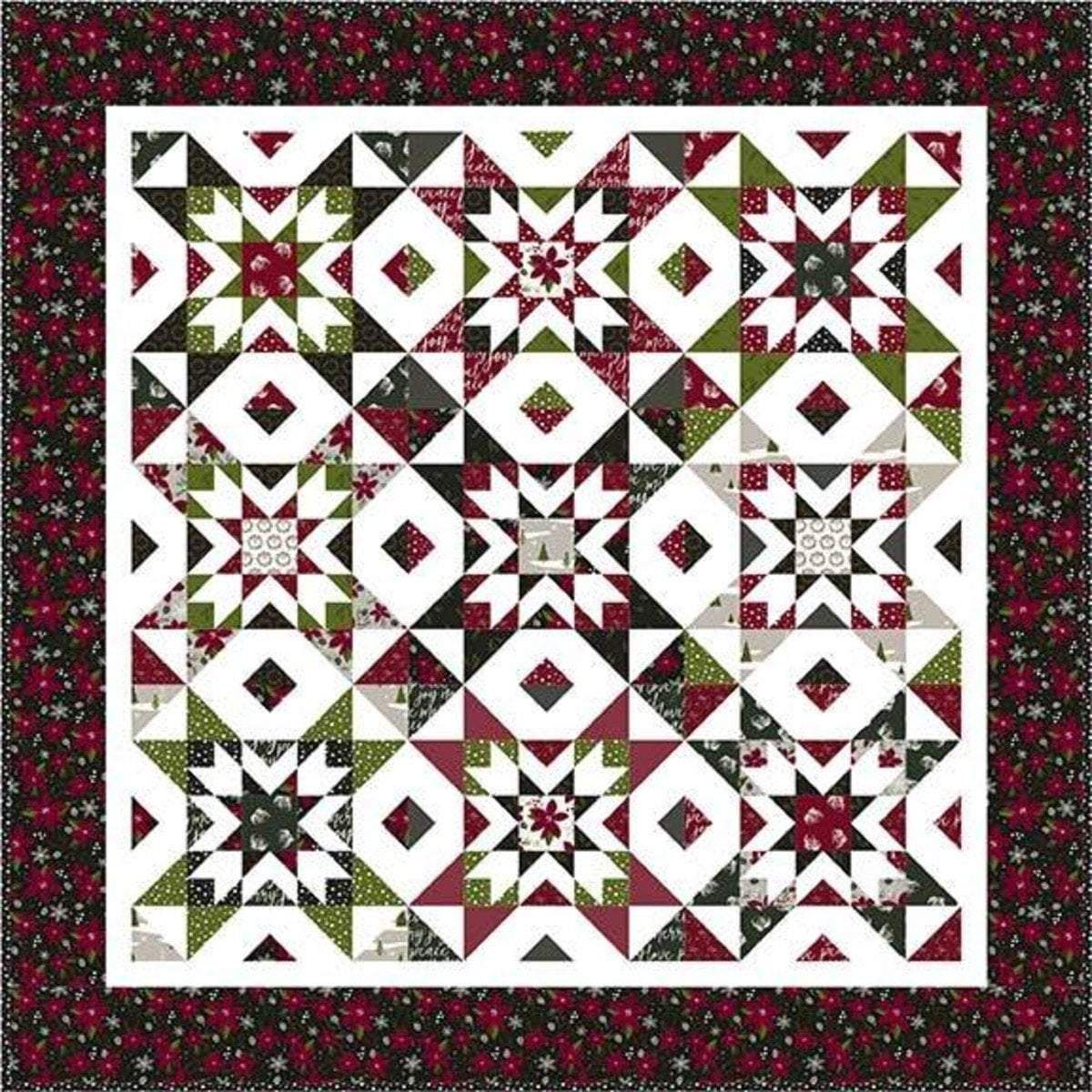Nesting Stars Quilt Kit - Winterberry fabric collection - Christmas - Quilt fabric - Riley Blake ...