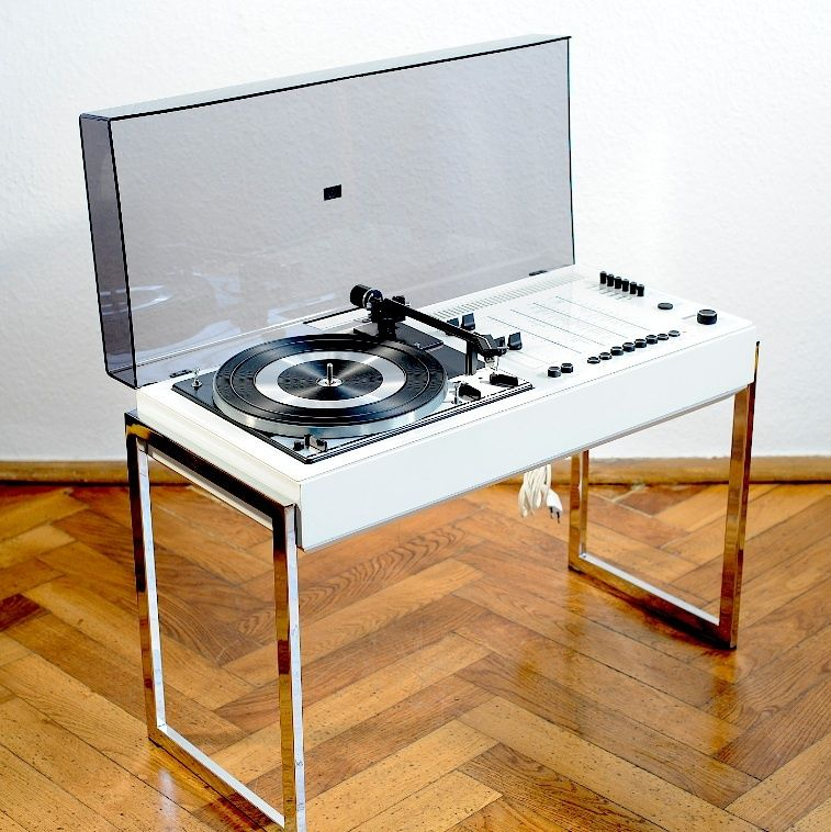 Meuble Chaine Hifi Design 1970s Vtg White Wega 3207 Hifi Dual Design Turntable