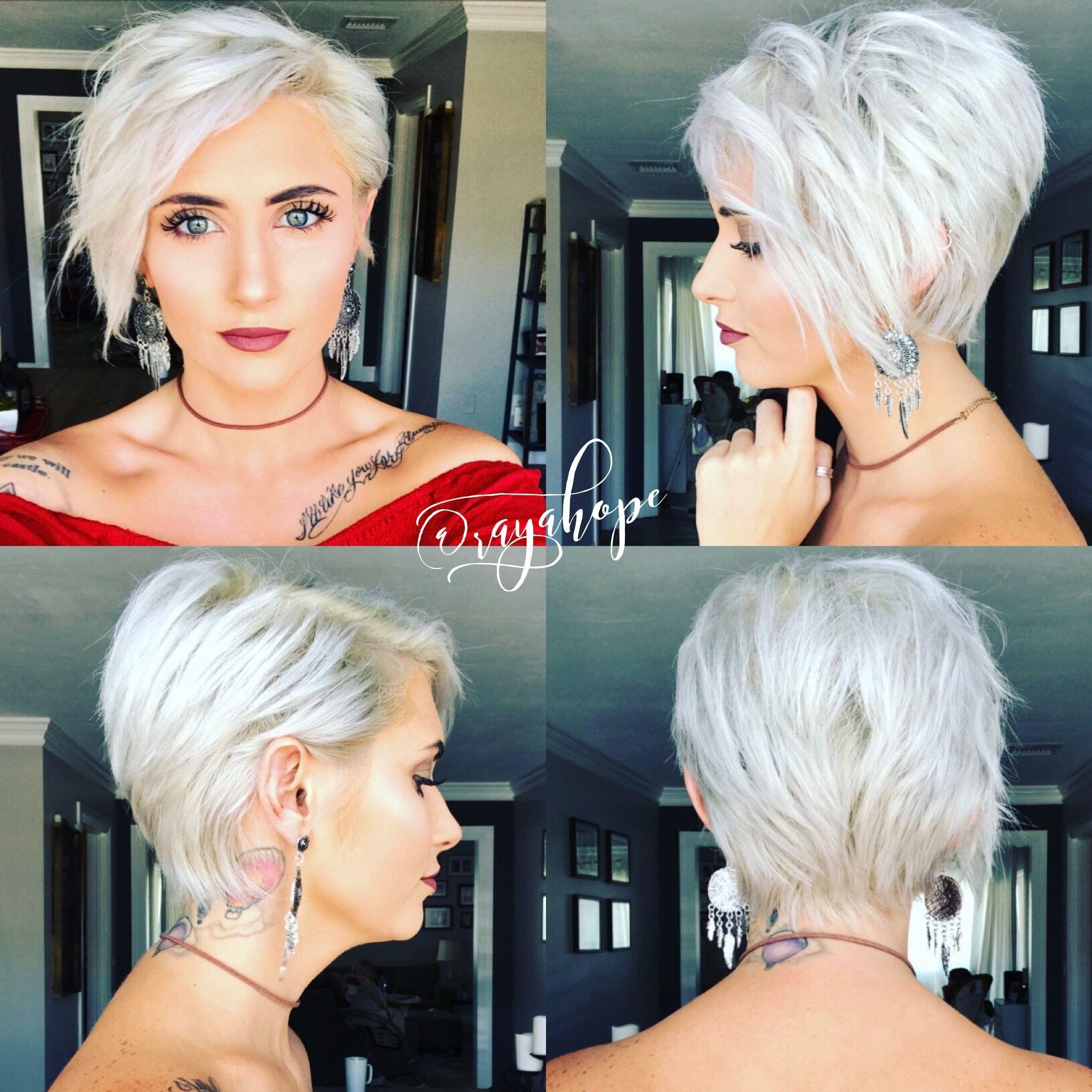 Blonde Pixie Haircut Platinum Blonde Pixie Haircut Pixie 360 Back