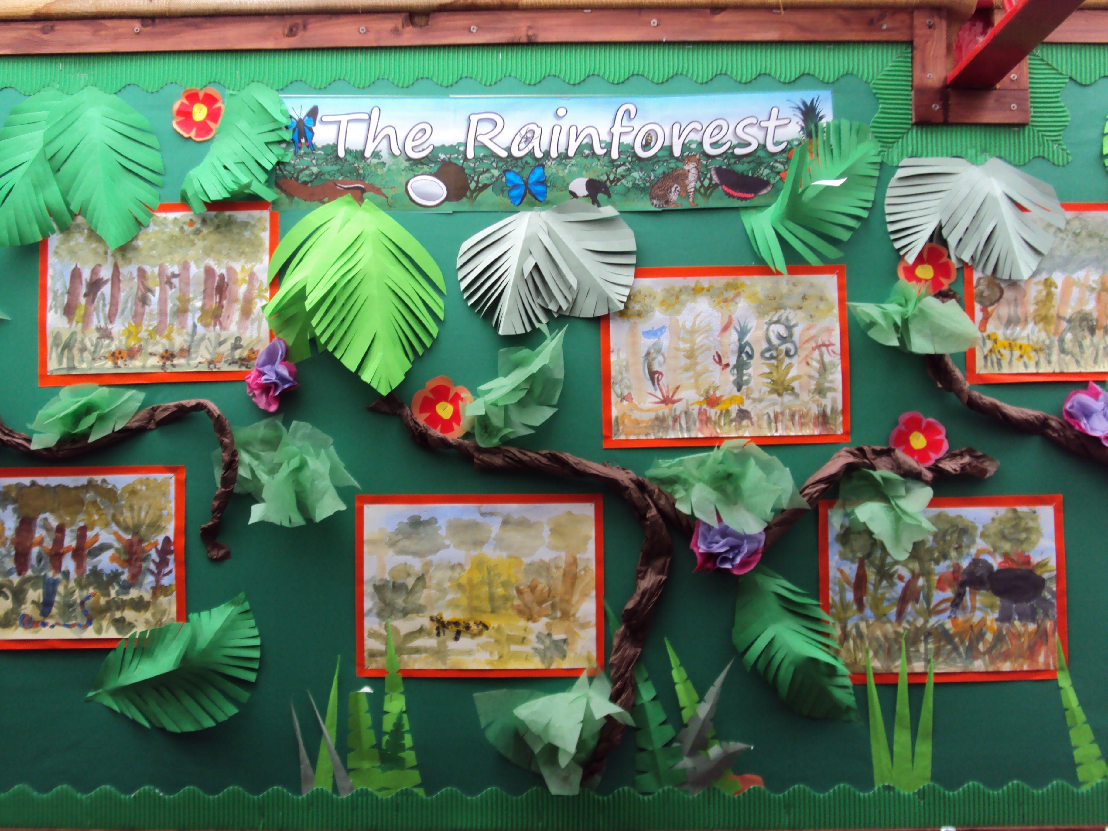 Classroom Ideas Year 3 : Rousseau inspired art for kids rainforest ideas