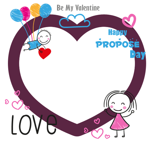 Happy Propose Day Photo Frame With Custom Pics Maker.Beautiful Love ...