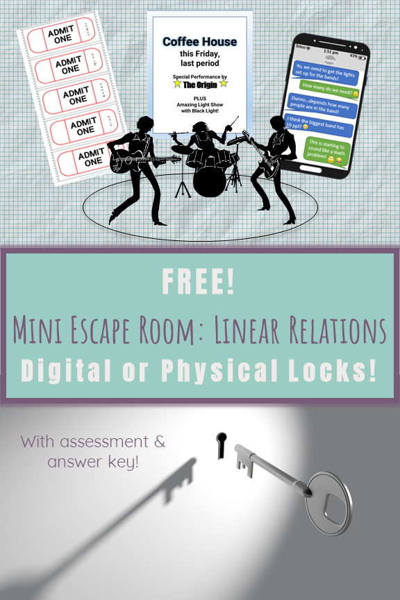 Escape Room Mini Math Game (Digital or Printable FREEBIE ...