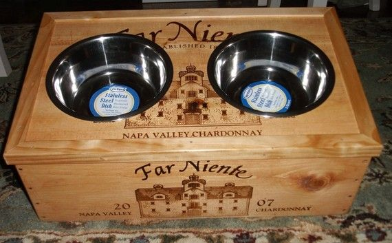 Far Niente Double Bowl Dog  Feeder w/2 qt bowls by winecreations, $65.00