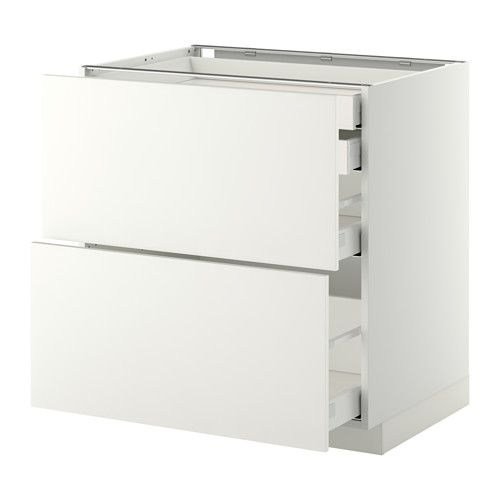 METOD / MAXIMERA Spod skr 2čelá 2níz/1str/1vys zás - biela, Häggeby biela, 80x60 cm - IKEA