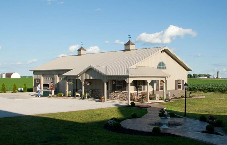 pole+barn+homes | pole barn home | Pole Barn House/Shop #polebarnhouses