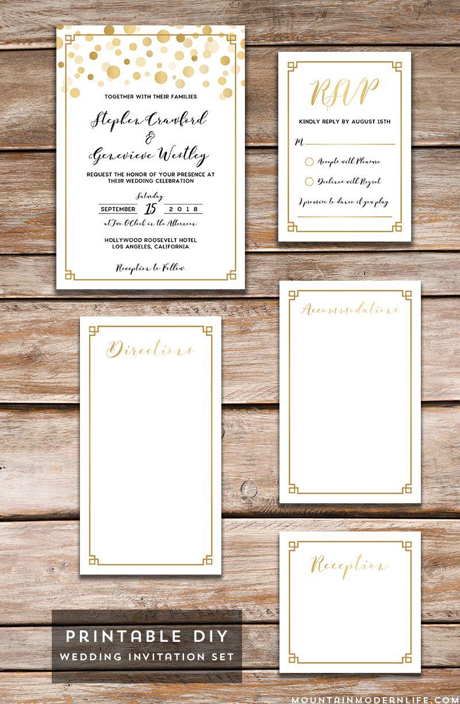 Modern DIY Wedding Invitations - MountainModernLife.com | Diy ...